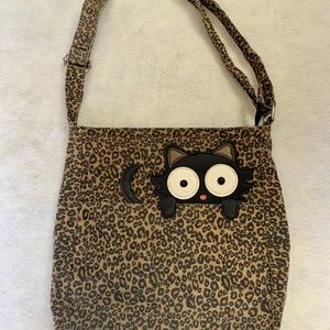 Sleepyville Critters Leopard Print Kitty Purse